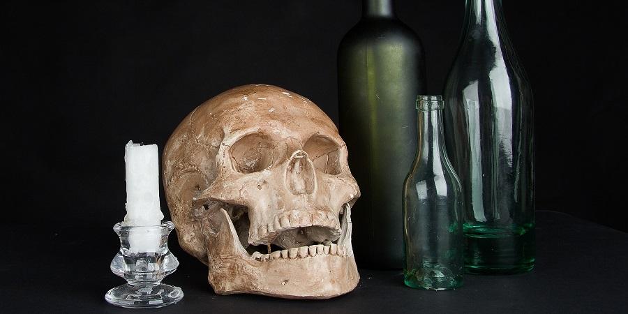 Colné zatriedenie – fľaša v tvare lebky,dekantér alebo karafka